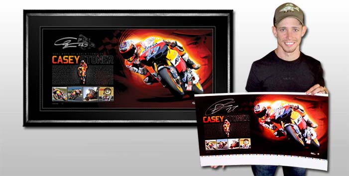 Casey Stoner – 2011 World MotoGP winner signed lithograph.