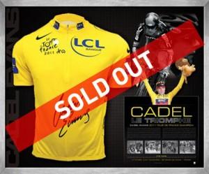 Cadel Evans yellow jersey